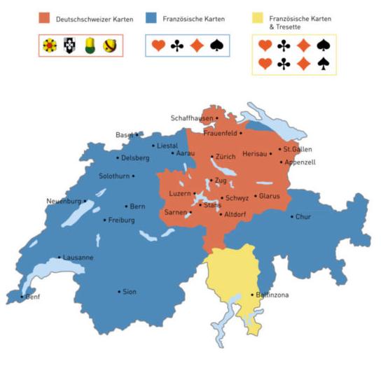 Jasskartenlandschaft Schweiz